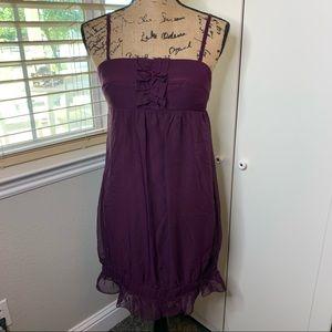 NWT Johnny Martin Sheer Overlay Bubble Dress